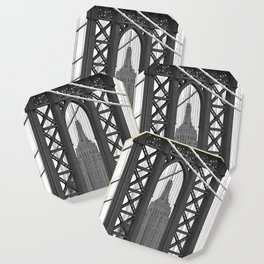 Empire State Building Photography Black & White Empire State Building Contest finalist Coaster