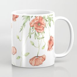 Fragile Beauty - Watercolor Poppies Coffee Mug