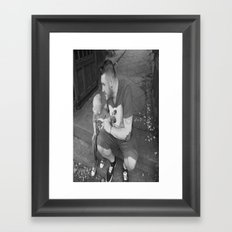 lou and daddy Framed Art Print