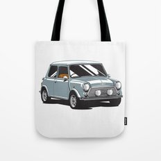 Mini Cooper Car - Gray Tote Bag