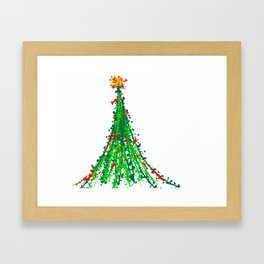 Abstract Christmas Tree Art-Barbara Chichester Framed Art Print