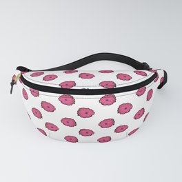 Pink flowers on white Fanny Pack