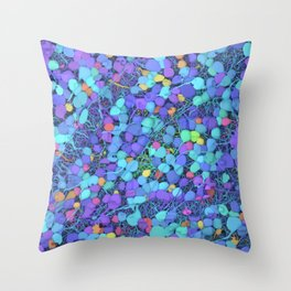 Sea of Cells Throw Pillow