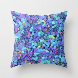 Sea of Cells Throw Pillow