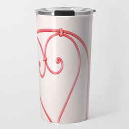 16. Pink Heart, Bretagne, France Travel Mug