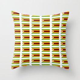 Flag of zimbabwe -Zimbabwe,Zimbabwean,Zimbo,harare,Bulawayo Throw Pillow