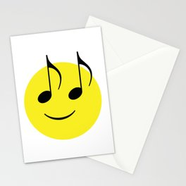 Happy Music Face Stationery Cards