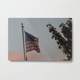 Tattered Flag Metal Print