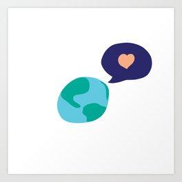 Love Mother Earth Art Print