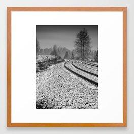 On the Rails Framed Art Print