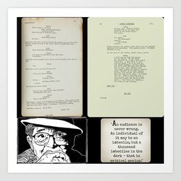 Billy Wilder screenplays Art Print