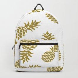 Golden pineapple pattern Backpack