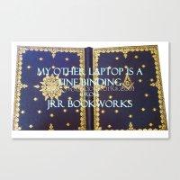 laptop Canvas Prints featuring Laptop by Jrr Bookworks