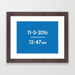 The Exact Time The Cubs Won It All Framed Art Print