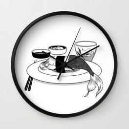 No More Fairy Tales Wall Clock