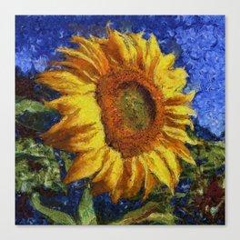 Sunflower In Van Gogh Style Canvas Print
