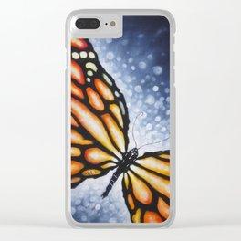 Butterfly Kiss Clear iPhone Case