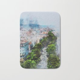 My lovely town Barcelona Bath Mat