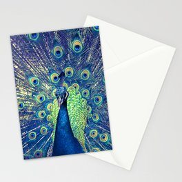 Majestic Peacock With Elegant Feathers Stationery Cards