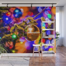 Glass Ornament Ball, Cheerful Lights Wall Mural