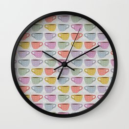 Colorful Cups Wall Clock