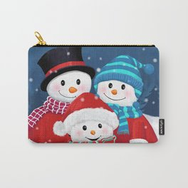 Christmas Snowman Family Series Carry-All Pouch