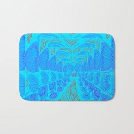 Blue Butter Fly Bath Mat