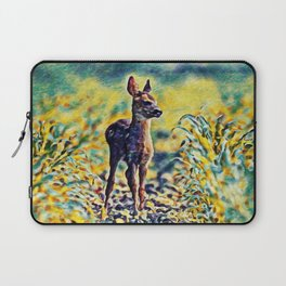 Lost Fawn Of The Dreamworld | Painting Laptop Sleeve