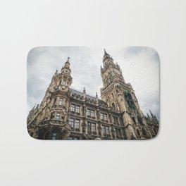 New City Hall, Marienplatz, Munich, Germany Bath Mat