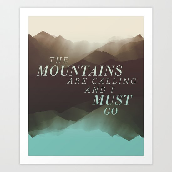 Mountains - Color Art Print