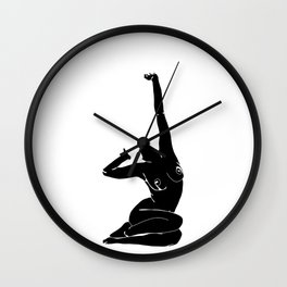 Nude figure print - Louie Silhouette Wall Clock