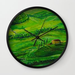 Greenland with a small house Wall Clock