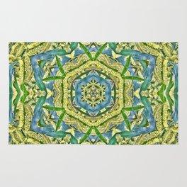 Beautiful wattle mandala Rug