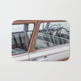 Vintage car brown 4 Bath Mat