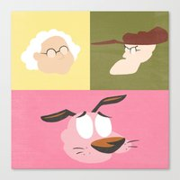 courage Canvas Prints featuring Courage by Raquel Segal