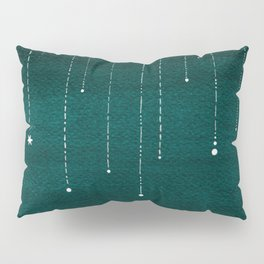 Falling stars, sailboat, teal, ocean Pillow Sham