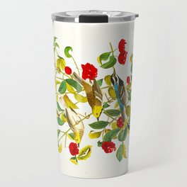 Vintage Scientific Bird & Botanical Illustration Travel Mug