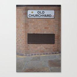 liverpool old churchyard Canvas Print