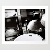 drums Art Prints featuring Drums by TomP