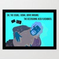 the big lebowski Art Prints featuring The Big Lebowski by illustrationsbysammi