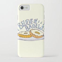 I Believe in Bagels iPhone Case