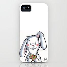 Salad Bunny iPhone Case