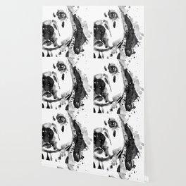Black And White Half Faced Dalmatian Dog Wallpaper
