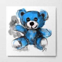Hello bear Metal Print