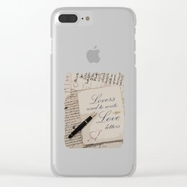 Lovers used to write love letters-Valentine day-Love Clear iPhone Case