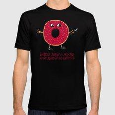 Danger Donut Black Mens Fitted Tee MEDIUM