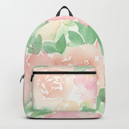 Pink Peonies and Roses Backpack