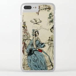 The World of Fashion and Continental Feuilletons 1824 Clear iPhone Case