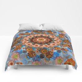 Happy light blue background Comforters