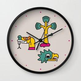 Aztec Glyphs ~3 Wall Clock